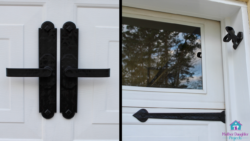 handles and hings on garage door