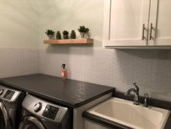 laundry room with Aspect tiles on wall