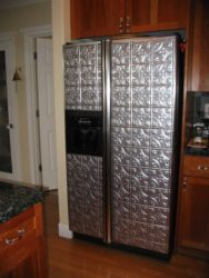 Refrigerator makeover ideas for less like these Fasade panels
