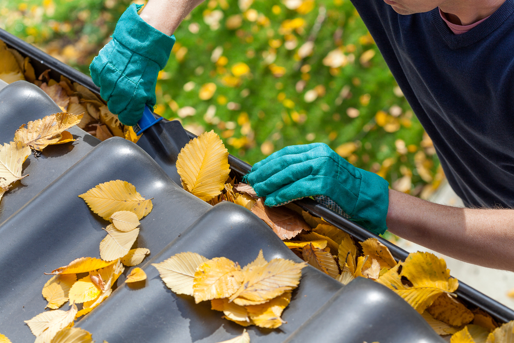 Cleaning gutters get your home ready for winter