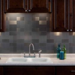 Aspect metal backsplash