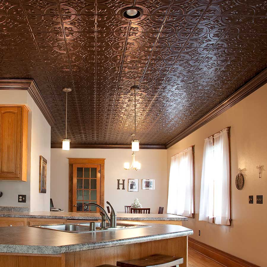 ceiling with Fasade panels