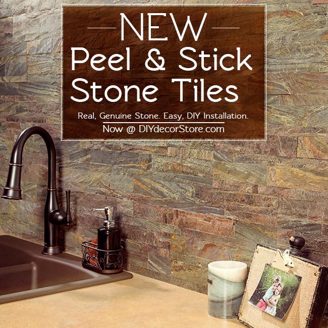Aspect Peel & Stick stone tiles backsplash